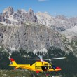 Mountain rescue with Helicopter in Alps. — Stock Photo #30276155