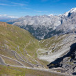 The Stelvio Pass is the highest mountain pass in the Alps — Foto de Stock