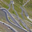 Stock Photo: Hairpin turns, Stelvio pass
