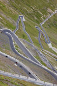 Hairpin turns, Stelvio pass — Stock Photo