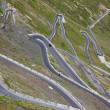 Hairpin turns, Stelvio pass — Stockfoto