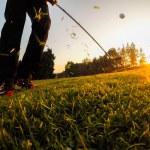 Chip Golf Shot — Stockfoto