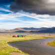 Red houses in icelandic countryside. — Stock Photo #40244631
