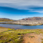 Selvallavatn, a vulcanic lake in Iceland. — Stock Photo