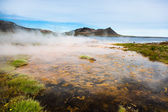 Hot springs next the sea, Iceland. — Stock Photo