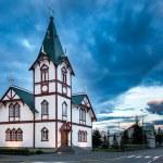Icelandic church in the little town of Husavik — Stock Photo #40261807