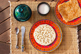 Typical moroccan breakfast — Foto Stock