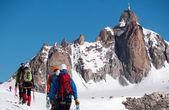 The Aiguille du Midi peak — Stock Photo
