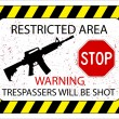 No trespassers allowed — Stock Vector