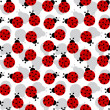 Ladybugs seamless texture — Stock Vector