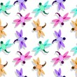 Dragon fly pattern — Stockvectorbeeld