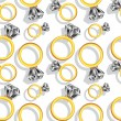 Diamond rings pattern — Stock Vector