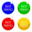 Stock Vector: Best friend icons