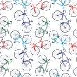 Bicycles pattern — Stock Vector