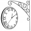 Stock Vector: Hanged clock