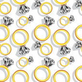 Diamond rings pattern — Vetor de Stock