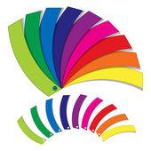 цветовая палитра — Cтоковый вектор