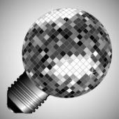 Disco light bulb — Stockvector