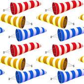 Windsock pattern — Stock Vector