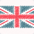 Royalty-Free Stock Vector Image: Union jack hearts grunge flag