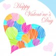 Valentines day card — Stock Vector #19384437