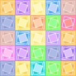 Pastel squares pattern - Stock Vector
