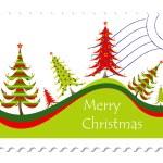 Christmas card stamp — Stock Vector #20066371