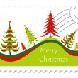 Christmas card stamp — Stock Vector #20066371
