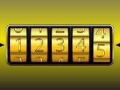 Digit locker — Stock Vector