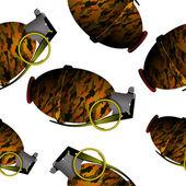 Hand grenade pattern — Stock Vector