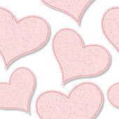 Patrón de corazones de papel — Vector de stock