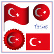 Royalty-Free Stock Vector Image: Turkey graphic set