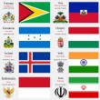 Wektor stockowy : World flags and capitals set 10