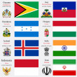 World flags and capitals set 10 — Vettoriale Stock #25065485