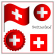 Switzerland graphic set — Stock Vector