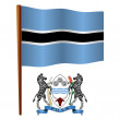 Botswana wavy flag - Stock Vector