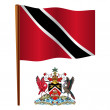 Trinidad and tobago wavy flag — Stock Vector