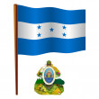 Honduras wavy flag — Stock Vector