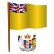 Niue wavy flag — Stock Vector