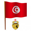 Tunisia wavy flag - Stock Vector
