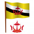 Brunei wavy flag - Stock Vector