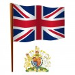 United kingdom wavy flag - Stock Vector