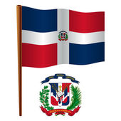 Dominican republic wavy flag — Stock Vector