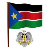 South sudan wavy flag — Stock Vector