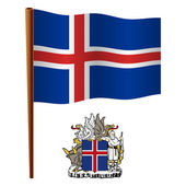 Iceland wavy flag — Stock Vector