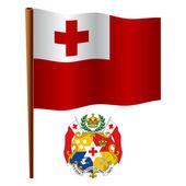 Tonga wavy flag — Stock Vector