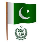 Pakistan wavy flag — Stock Vector