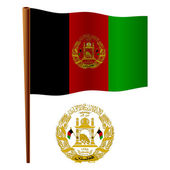 Afghanistan wavy flag — Stock Vector