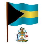 Bahamas wavy flag — Stock Vector