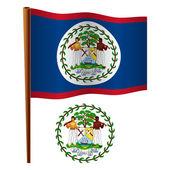 Belize golvende vlag — Stockvector